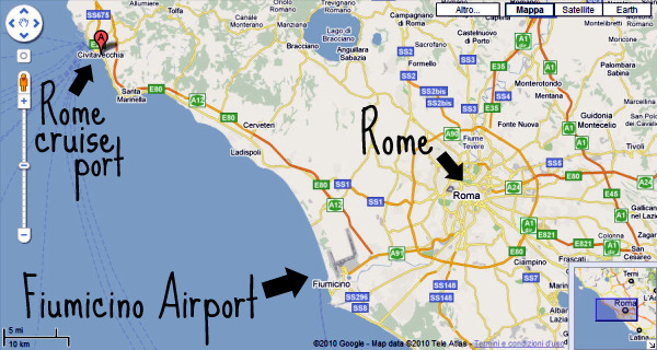 Royal caribbean jewel of the seas ship - Getting from civitavecchia port to rome ...