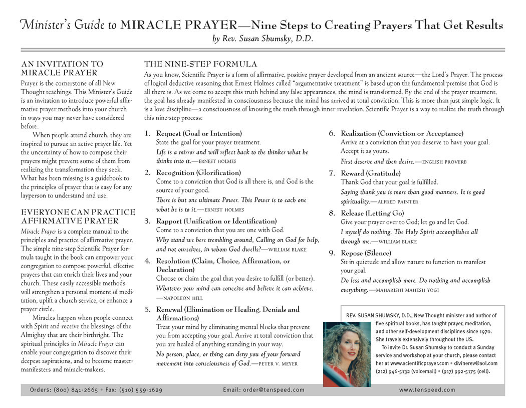 Affirmative Prayer Treatment