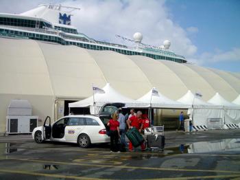 Royal caribbean jewel of the seas ship - Port of civitavecchia cruise terminal ...